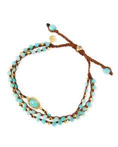 3-Strand+Amazonite+Beaded+Bracelet+by+Tai+at+Neiman+Marcus. (inspiration)