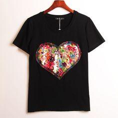 2 Colors Summer Hot T-shirt Women  #womenfashion #CUTE