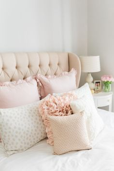 Tour a chic bedroom makeover infused with glamour and pink. Featuring metallic details, fur and Parisian inspired art, this bedroom is a chic and feminine oasis. Dream Bedroom, Home Bedroom, Bedroom Furniture, Bedroom Ideas, Bedroom Modern, 1930s Bedroom, Target Bedroom, Bedroom Romantic, Bedroom Designs