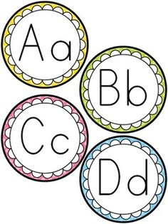 Word Wall Letters Picture Cards 3