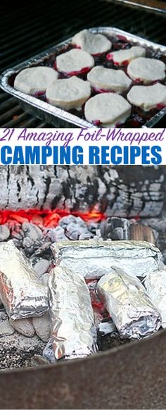 "21 Amazing Foil-Wrapped Camping Recipes — As many campers say ""everything tastes better when it's cooked over a campfire"" I have to agree, I have always prefered the taste of campfire food, I think that's why I go camping so much!"