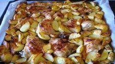 Nedělní oběd u babičky mě dostal! Pečené kuře s brambory na majoránce. Bomba! New Menu, Sprouts, Potato Salad, French Toast, Potatoes, Vegetables, Cooking, Breakfast, Ethnic Recipes