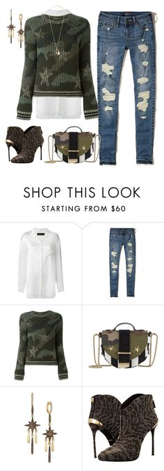 """Untitled #246"" by elsienguyen202 ❤ liked on Polyvore featuring Alexandre Vauthier, Hollister Co., Valentino, Delphine Delafon, LE VIAN, Roberto Cavalli and Lanvin"