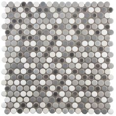 SomerTile 11.25 x 11.75-inch Asteroid Penny Round Luna Porcelain Mosaic Floor and Wall Tile (Pack of - Free Shipping Today - Overstock.com - 17442832 - Mobile