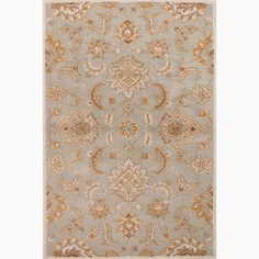 Handmade Blue/ Ivory Wool Easy Care Rug (9 x 12)