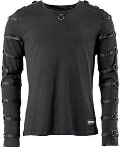 Men's shirt with rings and studs on sleeves