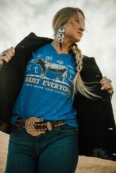 Everyone But Brand Your Cattle Tee Baha Ranch Western Wear Polo Ralph Lauren Women Pink Pony Graphic Jersey T-Shirt Flower Child Tee / available for multiple organizations! / greek gifts / greek sorority t shirts Fashion Jewelry Country Style Outfits, Southern Outfits, Country Girl Style, Country Fashion, Country Style Clothes, Country Western Outfits, Country Wear, Western Outfits Women, Women's Western Clothing