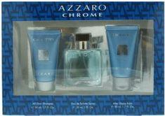 AZZARO CHROME 30ML EDT GIFT SET  Price: 540 & FREE Shipping  #hashtag3 Azzaro, After Shave Balm, Mens Gift Sets, Shaving, The Balm, Shampoo, Chrome, Fragrance, Soap