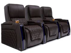 luxury home theater Seatcraft Apex Home Theater Chairs Loveseat Theatre Room Seating, Movie Theater Chairs, Media Room Seating, Home Theater Room Design, Home Theater Furniture, Home Theater Decor, At Home Movie Theater, Home Theater Lighting, Movie Chairs