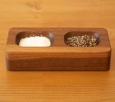 "Arroyo Salt and Pepper Block:  $45 Love the simplicity. Great for those ""pinches"" and ""dashes"""