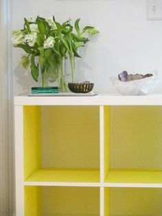 DIY: IKEA Hack: Kallax shelf + Panyl adhesive covering..