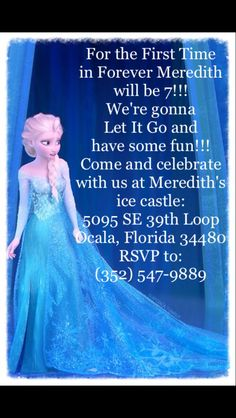 Frozen birthday Invitations!!!!!! Sooooo cute!!!!