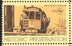 San Francisco Cable Car, 1971. Began in 1873. The Hyde Sreet Pier is at the bottom of the hill.