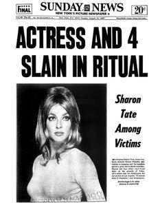 Sharon Tate Death, Sharon Tate Murder, Sharon Tate Crime Scene, Charles Manson, Roman Polanski, Newspaper Headlines, Daily News Newspaper, Vintage Newspaper, Newspaper Article