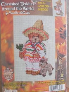CHERISHED TEDDIES AROUND THE WORLD CARLOS MEXICO Counted Cross Stitch KIT 5 X 7