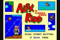 Alex kidd for the original Sega master system!!