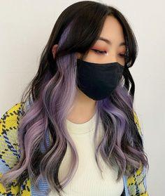 Purple Hair Highlights, Purple Brown Hair, Dyed Hair Purple, Hair Color Streaks, Hair Color Purple, Hair Dye Colors, Hair Color For Black Hair, Fall Hair Colors, Color Highlights