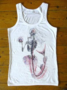 Mermaid skeleton tank top. <3