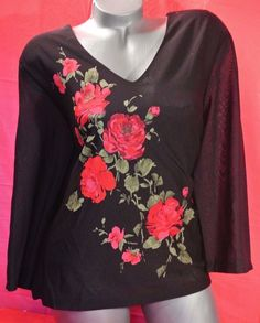 06fd4c6f75955 1X✿Chiffon✿Rose✿Work~Top✿Plus~Size✿Rockabilly✿Goth✿Pinup✿Retro~Chic+Torrid~Bow   Notations  Blousebabydoll  Casualcareer