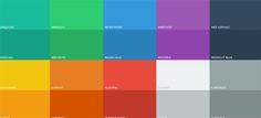 Flat UI Colors   Flat UI colors gives you pixel-perfect colors for your flat web design. Just click and paste!