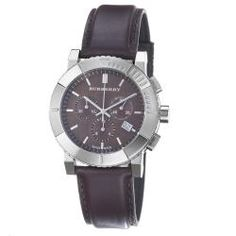 @Overstock - Britain's leading fashion brand known with their check design patterns was founded by Thomas Burberry in 1856, and is loved by many celebrities around the world. This timepiece features a brown chronograph dial and a date window at the 4 o'clock position.http://www.overstock.com/Jewelry-Watches/Burberry-Mens-Round-Chorno-Brown-Dial-Brown-Leather-Strap-Watch/6595926/product.html?CID=214117 $402.02