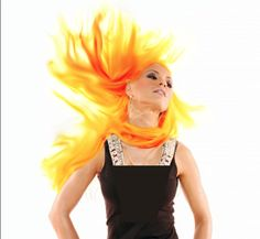 for this picture i used a quick mask tool to highlight the hair, and then i changed the color balance untili i was happy with the flaming hair.