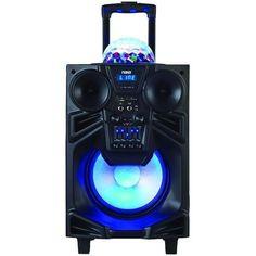 "NAXA NDS-1001 10"" Portable DJ-PA Speaker with Bluetooth(R) & Disco Dome Light"