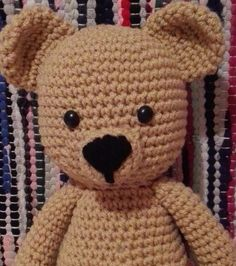 Stuffed Animals – Crochet Bear Toy – a unique product by MadamLove on DaWanda Pattern designed by Sharon Ojala.