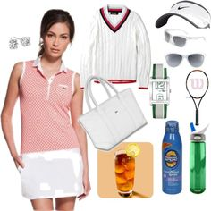 Tennis Traditionalist, created by elaine470 on Polyvore