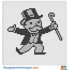Monopoly Bügelperlen Vorlage - Perler pattern