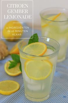 Fruit Drinks, Healthy Drinks, Healthy Recipes, Iced Tea Lemonade, Homemade Lemonade, Weight Watchers Meals, Summer Drinks, Smoothies, Food Porn