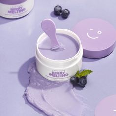 Melt the day away with Berry Melting Makeup Remover Balm from I Dew Care—a sherbet-like, balm-to-oil cleanser that removes all traces of makeup, leaving the complexion soft, smooth, and moisturized. Lavender Aesthetic, Purple Aesthetic, Aesthetic Makeup, Beauty Care, Beauty Skin, Beauty Tips, Face Beauty, Beauty Hacks, Makeup Remover Balm