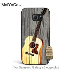 Colourful Style Design Plastic PC Cell phone case Wooden Guitar Musical Instrument For case GALAXY s6 edge plus