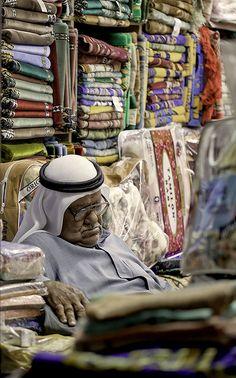Sleeping on The Job, Souq Waqif in Doha, Qatar