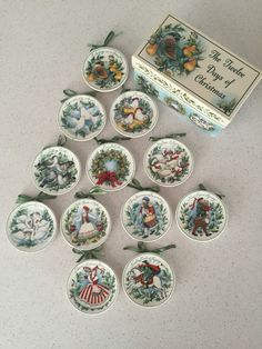MWW 12 Days of Christmas mini plates-Susan Winget & Irish Mini Plates Set of 4 By Manual Woodworkers and Weavers | St ...