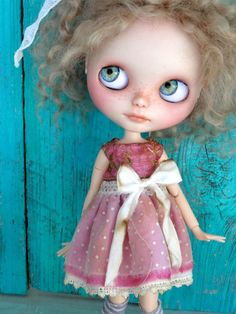 Blythe doll outfit OOAK  *Pink Dream* pure silk Grungy-chic outfit