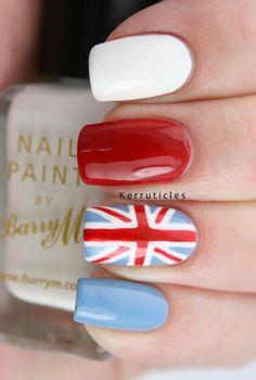 Union jack nails.....pretty cool