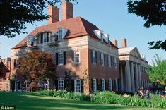 The British ambassador's residence was built like a Georgian manor on a vast scale in the heart of DC - just across from the Vice-Presidential residence on Embassy Row