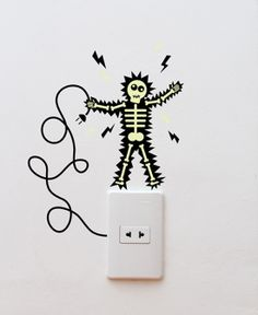 Stickers become more and more popular in interior design. We've already shown you some variants - Kids Room Decoration from e-glue and Eco Friendly Stickers by Design. Creative Wall Painting, Wall Painting Decor, Creative Walls, Cute Stickers, Wall Stickers, Sunflower Wall Decor, Cute Cartoon Girl, Dark Art Drawings, Mini Canvas Art