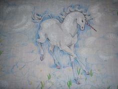 White Unicorns TWIN FLAT Sheet - Reclaimed Bed Linens. $14.00, via Etsy.