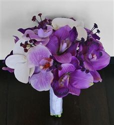 BRIDESMAIDS small purple orchid bouquet