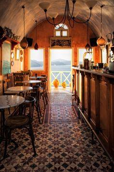 Let's Meet for Coffee ~ Cafe in Oia, Santorini, Greece~ zϮ ~