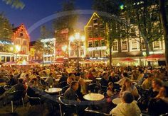 Amsterdam, Netherlands: Leidseplein - Outdoor square and nightlift hub with restaurants and entertainment