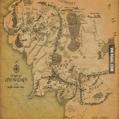 Day-by-day journey in Lord of the Rings on the map