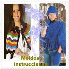Delicadezas en crochet Gabriela: Capas cuellos gorros y bufandas