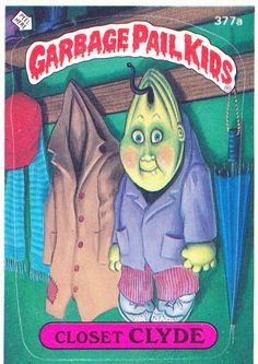 Garbage Pail Kids trading cards, 1980s.