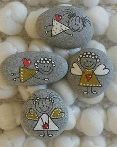 Pinselsteine  milled stones Steine Bemalen bemalen milled Pinselsteine Steine stones is part of Painted rocks - Stone Crafts, Rock Crafts, Fun Crafts, Crafts For Kids, Arts And Crafts, Rock Painting Patterns, Rock Painting Ideas Easy, Rock Painting Designs, Stone Art Painting