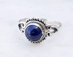 Lapis Ring - Blue Lapis Lazuli Ring - Lapis Jewelry - Silver Ring - Gemstone Ring - Blue Stone Ring, Size 3 To 12(US) by jewellryhubs on Etsy https://www.etsy.com/listing/485718236/lapis-ring-blue-lapis-lazuli-ring-lapis