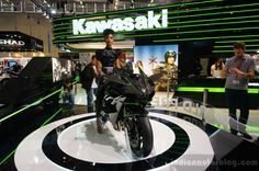 Kawasaki Ninja H2R Front Three Quarters At INTERMOT 2014