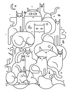 Gatitos: Jugando con hilos.